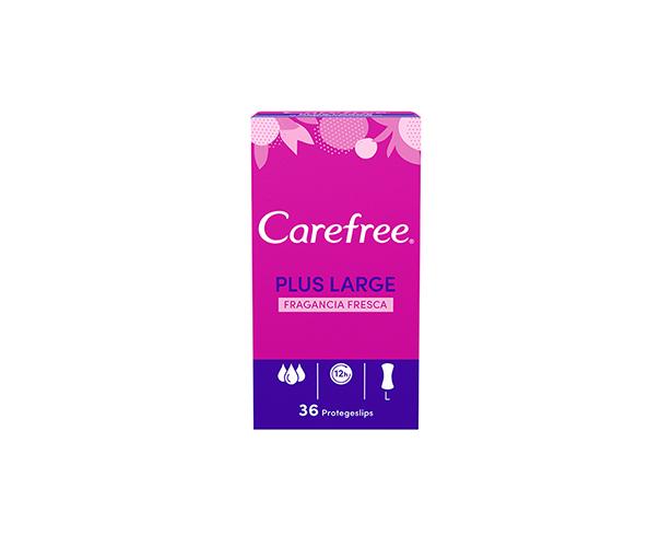 Carefree<sup>®</sup> Plus Large Fragancia Fresca