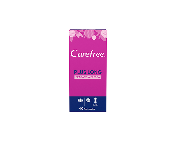 Carefree<sup>®</sup> Plus Long Fragancia Fresca