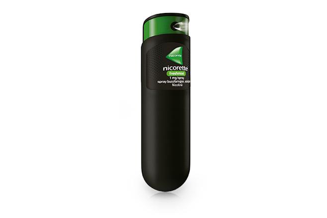 NICORETTE<sup>&reg;</sup> Freshmint 1 mg/spray, spray  bucofaringian, soluţie