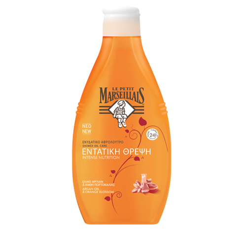 Ulei de duş intens hidratant cu Ulei de argan & Flori de portocal